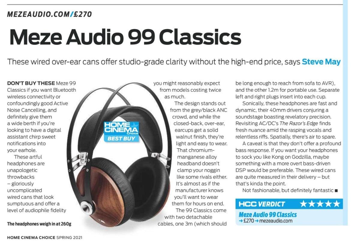 Home Cinema Choice Review - Meze Audio 99 Classics